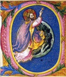 Dieu créateur - enluminure
