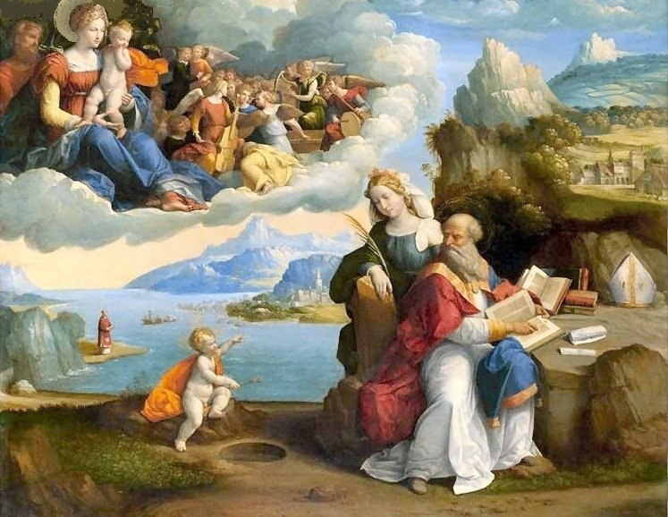 imm fr benvenuto Garofalo, visione della Trinità