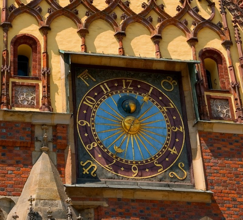 imm fr Medieval Clock Wroclaw, Poland