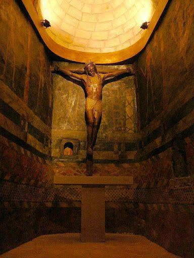imm fr il cristo sorridente nel Castillo de Javier, Navarra