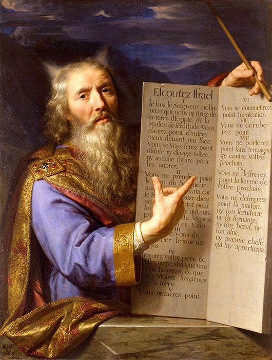 imm fr Philippe de Champaigne, Moïse présentant les tables de la Loi