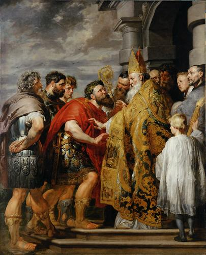 imm fr Sant'ambrogio e l'imperatore teodosia ter_Paul_Rubens_139