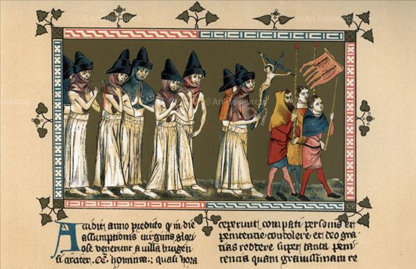fr Flagellants at Doornik, Belgium, in 1347