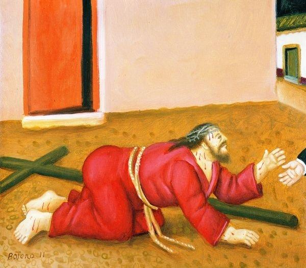 fr botero caduta di Gesù