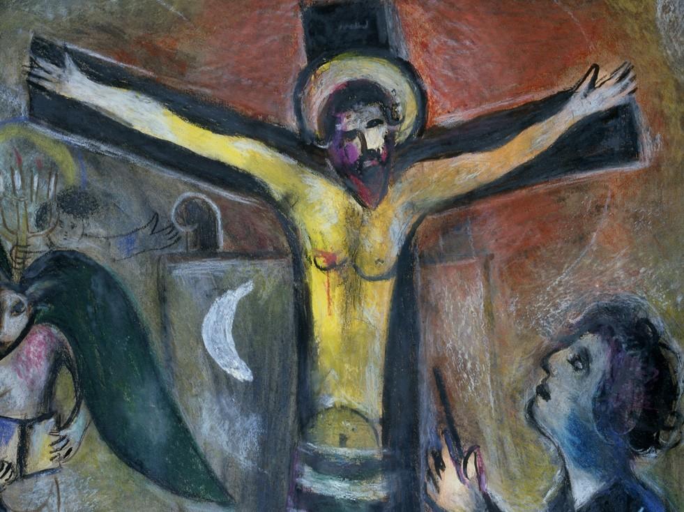 fr Marc Chagall, Le Christ et le peintre