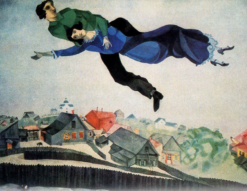 pen efrvmarc-chagall. over the town - Copia